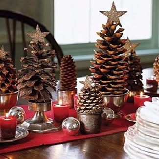ideas decoracion navidad piñas