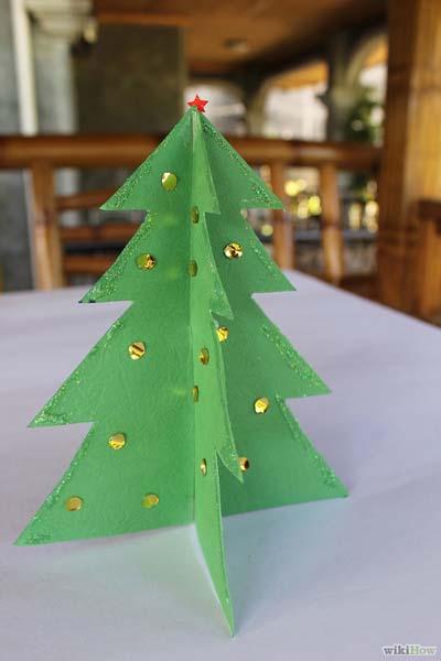 C mo hacer un rbol de navidad de papel o cart n - Como hacer un arbol de navidad de carton ...