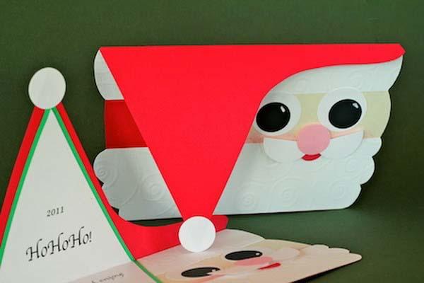 hacer tarjeta navidad oaoa noel - Tarjeta De Navidad En 3d