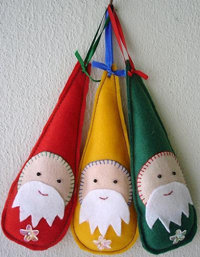 Haz tus propios adornos de navidad con fieltro - Adornos con fieltro ...